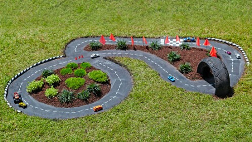 DIY Racetrack for Toy Cars
