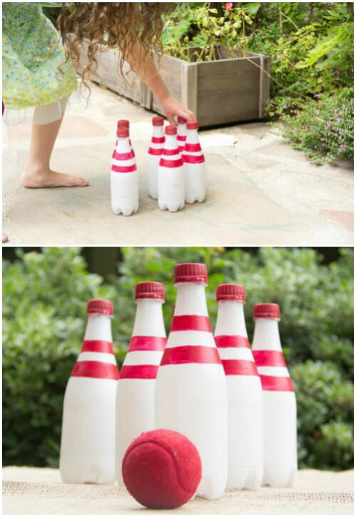 35 ridiculously fun diy backyard games that are borderline genius bowling with recycled bottles solutioingenieria Images