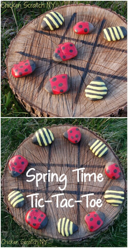 35 ridiculously fun diy backyard games that are borderline genius ladybug tic tac toe solutioingenieria Image collections
