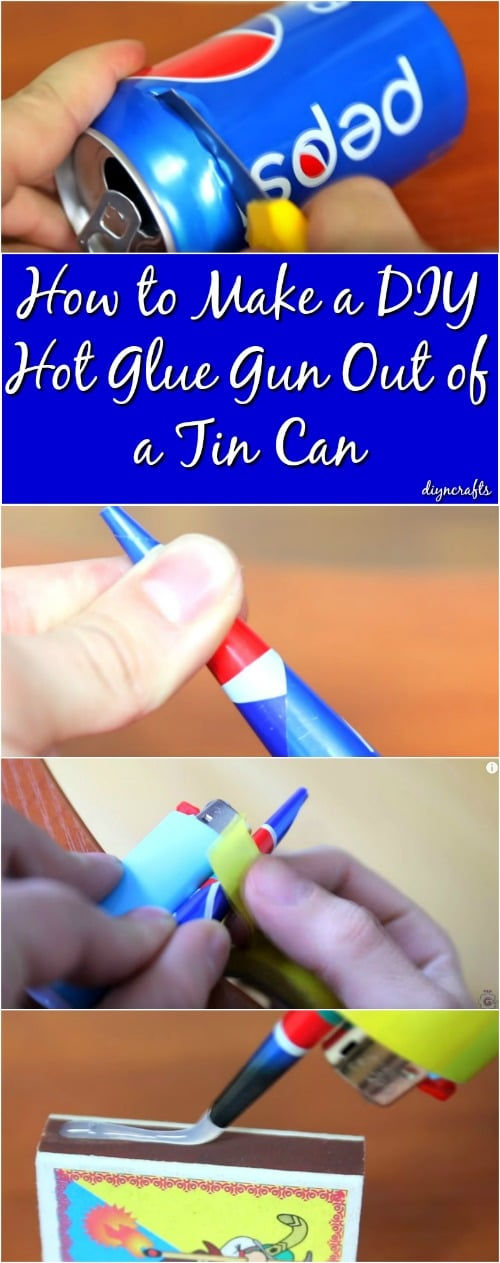 How To Make A DIY Hot Glue Gun Out Of Tin Can