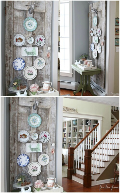 Vintage Plates30 Charming Vintage DIY Projects for Timeless and Classic Decor  . Diy Vintage Home Decor. Home Design Ideas