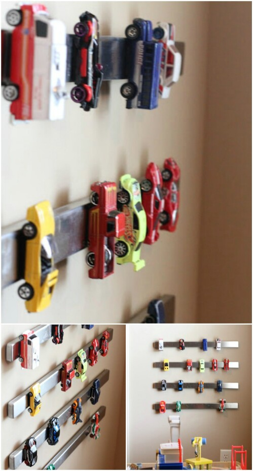If Your Son Has Quite A Few Small Cars, And You Need To Keep Them Off The  Floor And Storage Neatly, A Magnetic Strip Is The Perfect Solution.