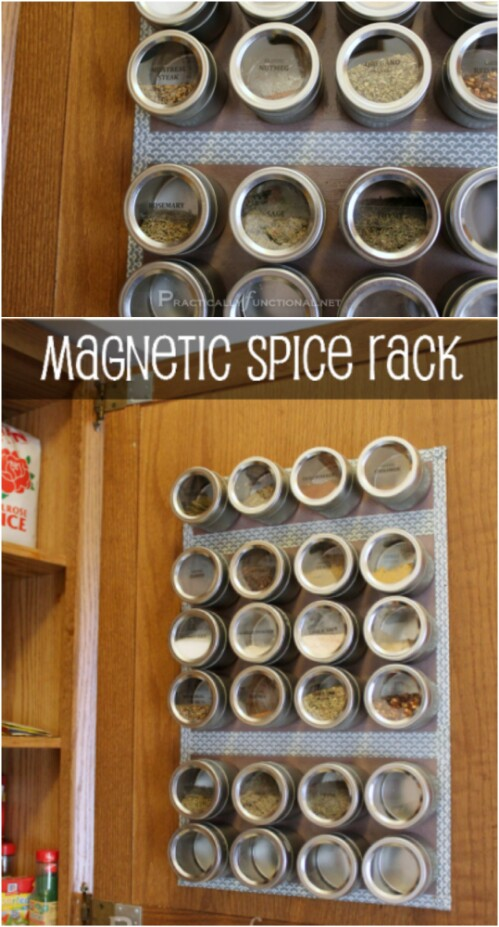 I Love Cooking With All Sorts Of Spices, And This Magnetic Spice Rack Makes  It So Easy To Keep Those Spices Tidy And Organized. Plus, It Frees Up  Counter ...