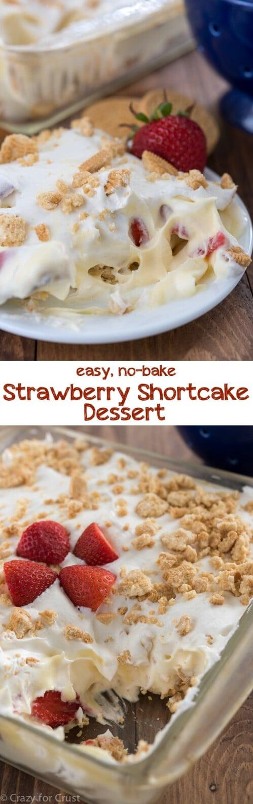 No Bake Strawberry Shortcake Dessert
