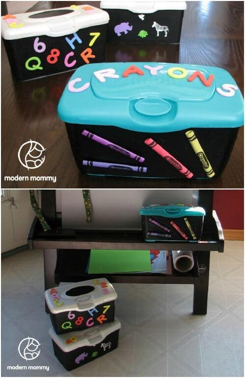 Store Kids' Craft Supplies