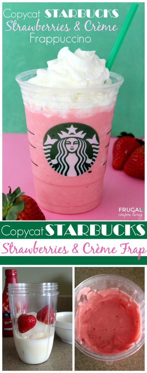 """Starbucks"" Strawberries & Cream Frappuccino"