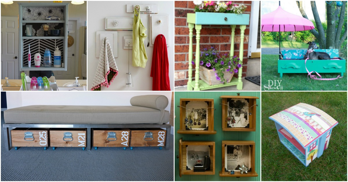 15 Brilliant Repurposing Projects For Old Drawers Diy