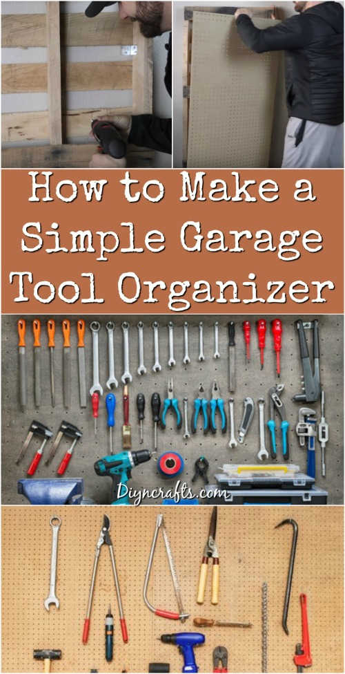 How to make a simple garage tool organizer diy crafts how to make a simple garage tool organizer publicscrutiny Images