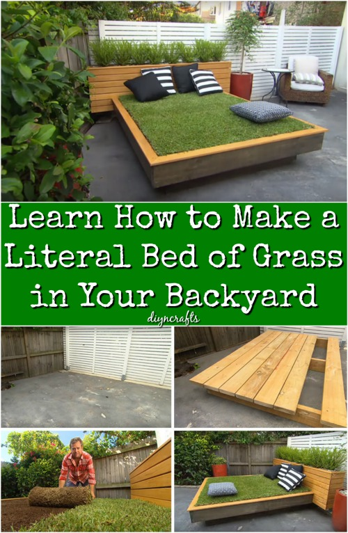 Learn How to Make a Literal Bed of Grass in Your Backyard {Video tutorial}
