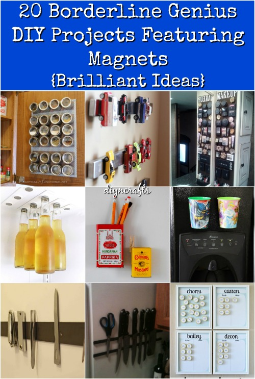 Magnets are great. Whether you love the sheer brilliance of how they stick together, or you've always wanted to learn new and creative ways of using them in your daily life, I've found 25 ways that you can implement magnets into your next DIY project.