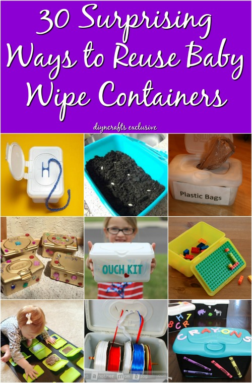 30 Surprising Ways To Re Purpose Baby Wipe Containers