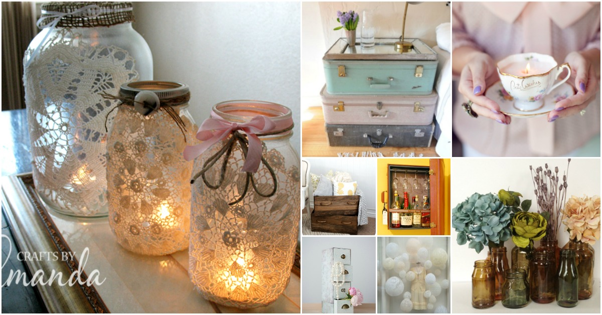30 charming vintage diy projects for timeless and classic for Vintage home decor