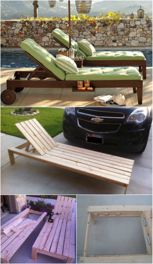 5 elegant sunbathing loungers you can diy free plans for Build a chaise lounge