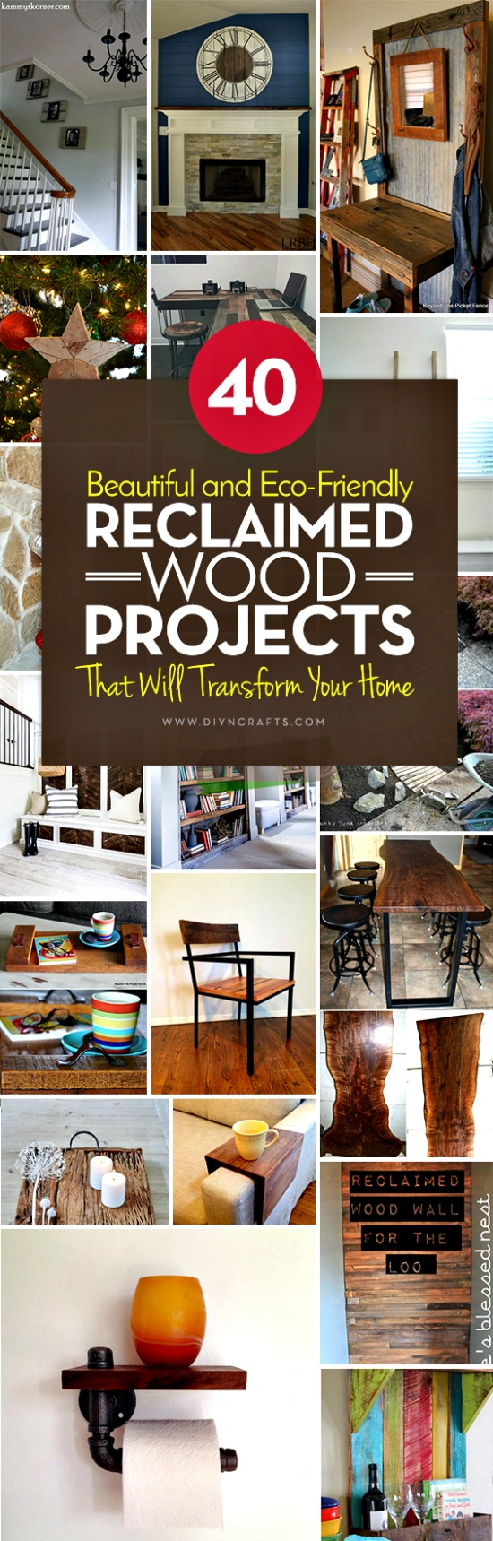 Looking for the perfect DIY project to transform your home this summer? One of the biggest trends in home décor right now is upcycling reclaimed wood. You can search for wood and reclaim it yourself from abandoned local structures (barns, railroads, etc.), or you can purchase it wholesale. Pallets are a great source if you are just starting out—just keep an eye on the roadside on your next long drive and you are bound to find some just lying around.