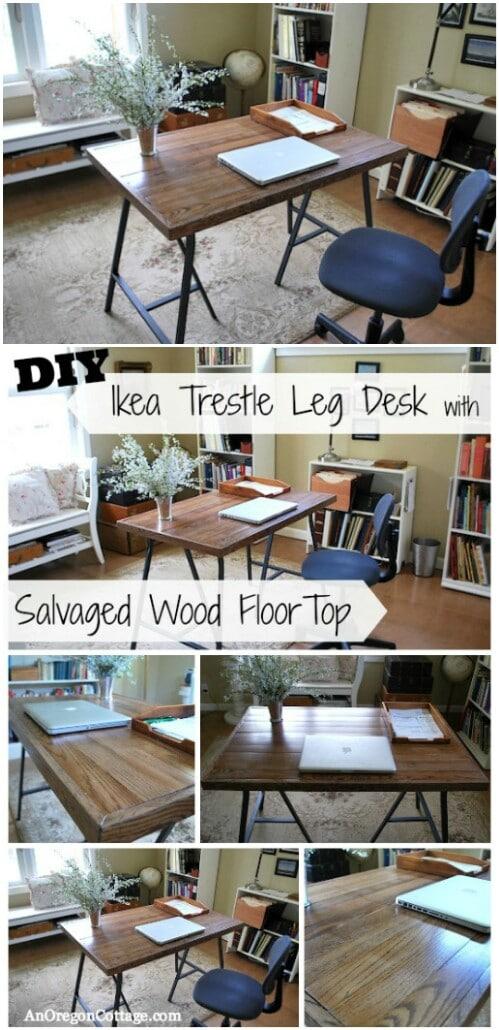 IKEA-Style Trestle Leg Desk