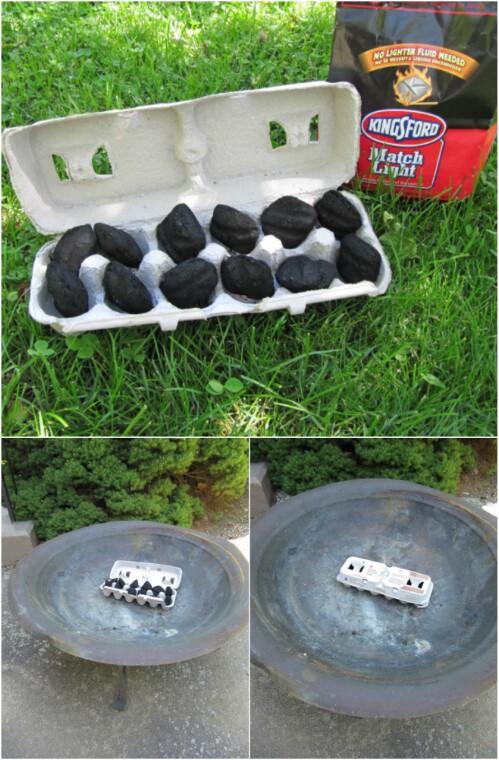 1. Easy campfire starter