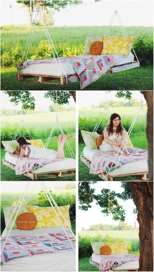 1. Relaxing Swing Bed