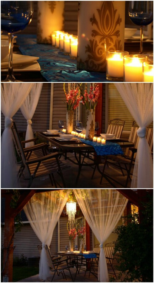 Romantic Dining Patio For Under $100