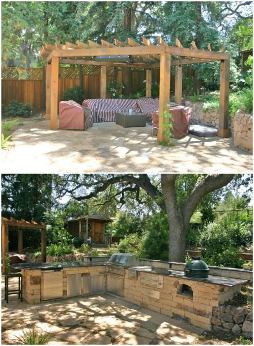 Woodsy Backyard Patio