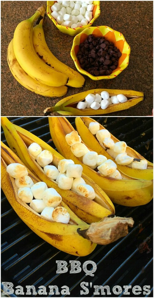 9. Make Banana S'mores