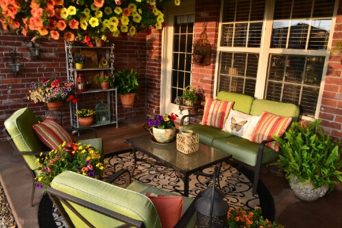 Colorful Spring Patio