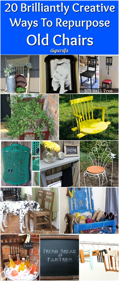 20 Brilliantly Creative Ways To Repurpose Old Chairs - It's so hard sometimes to part with things, particularly furniture. Even if you've purchased a new dining room set or just new chairs for your set, you may find it difficult to throw out those old chairs. I'm such a packrat that I just can't bring myself to get rid of things sometimes, even when they are broken or otherwise seem useless.