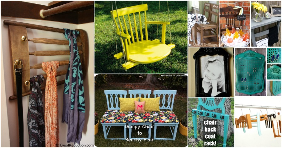 How To Repurpose Furniture 20 brilliantly creative ways to repurpose old chairs - diy & crafts
