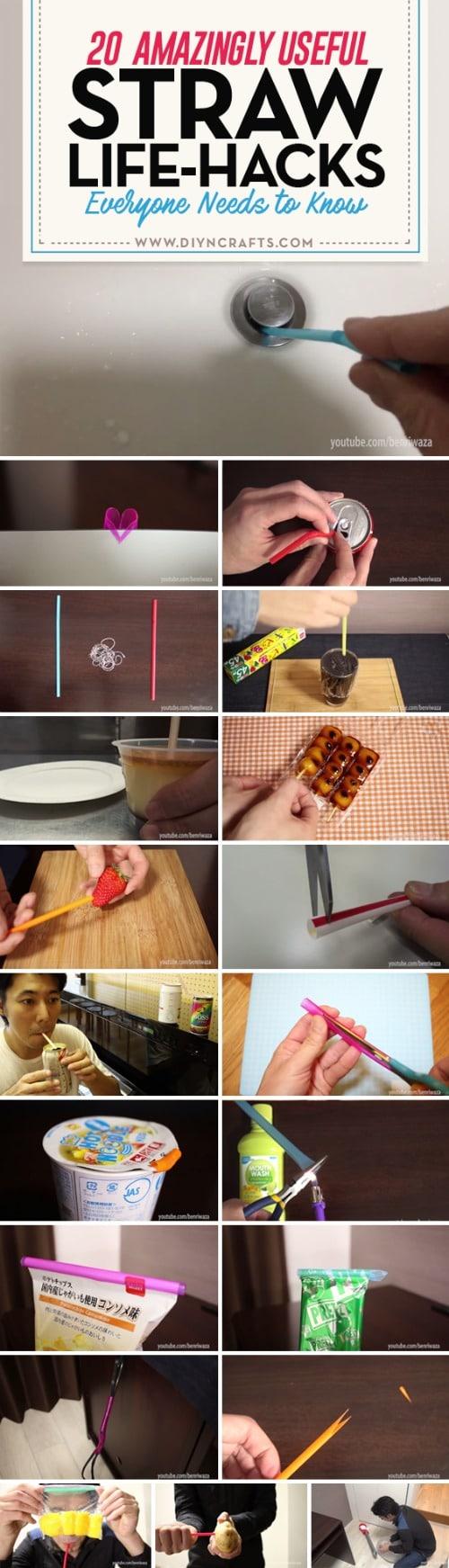 20 Amazingly Useful Straw Life-Hacks Everyone Needs to Know {Brilliant Lifehack Collection}