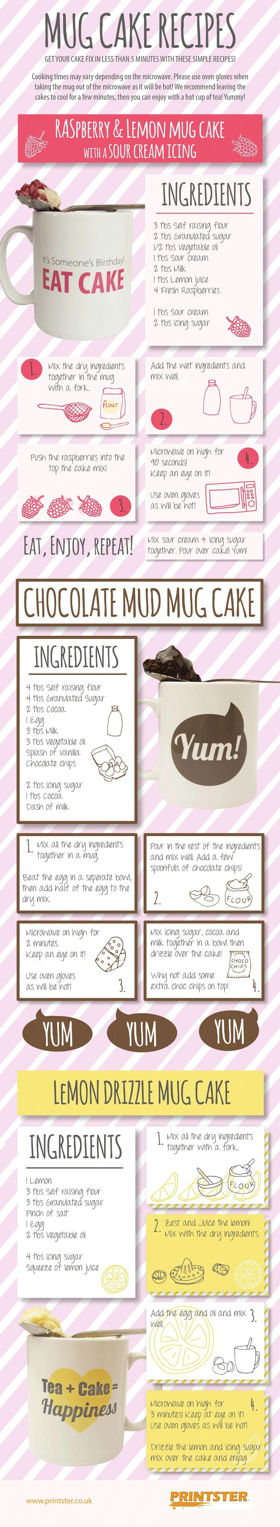 11. Make a mug cake.
