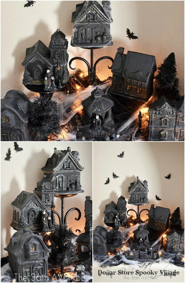 Halloween Village on a Budget