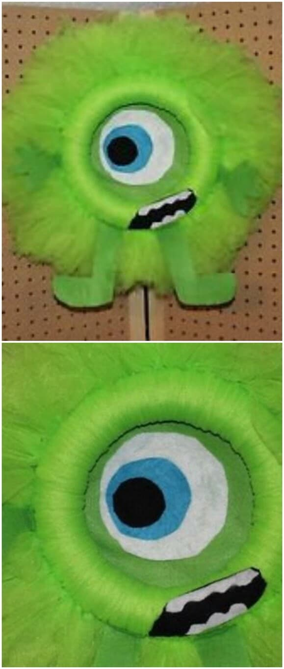 22. Mike Wazowski Tulle Wreath
