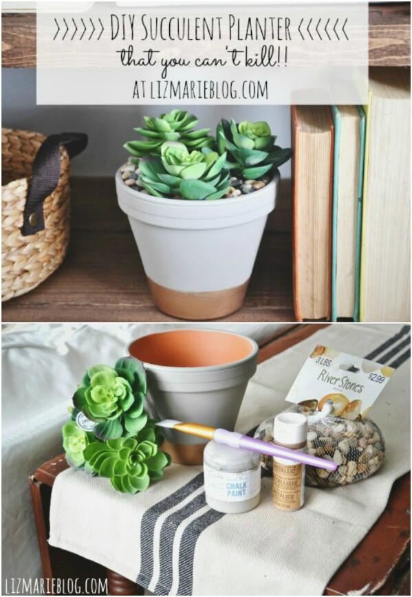 22. DIY Succulent Planter