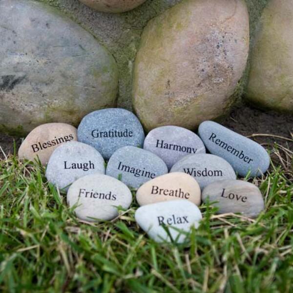 23. Etched Garden Stones