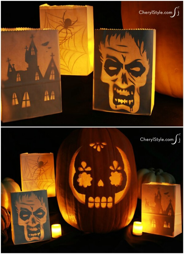 Printable Halloween Luminaria