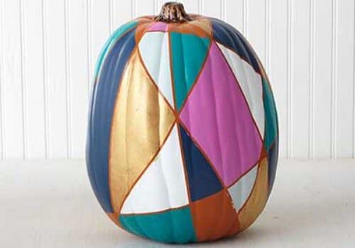 34. Stained Glass Pumpkin