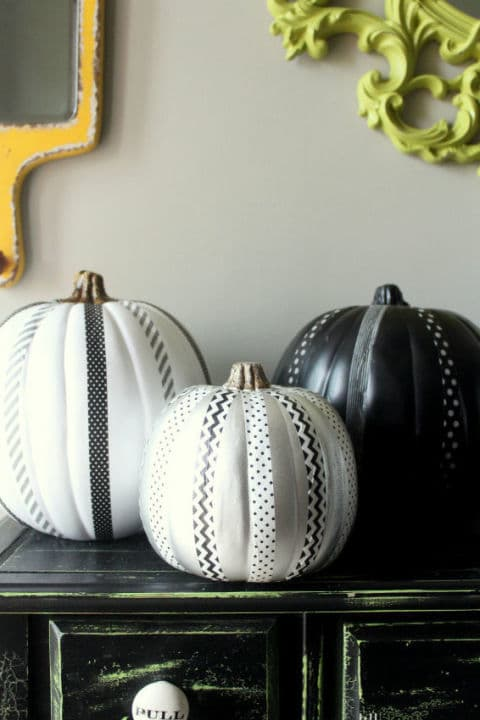 57. Washi Tape Pumpkins