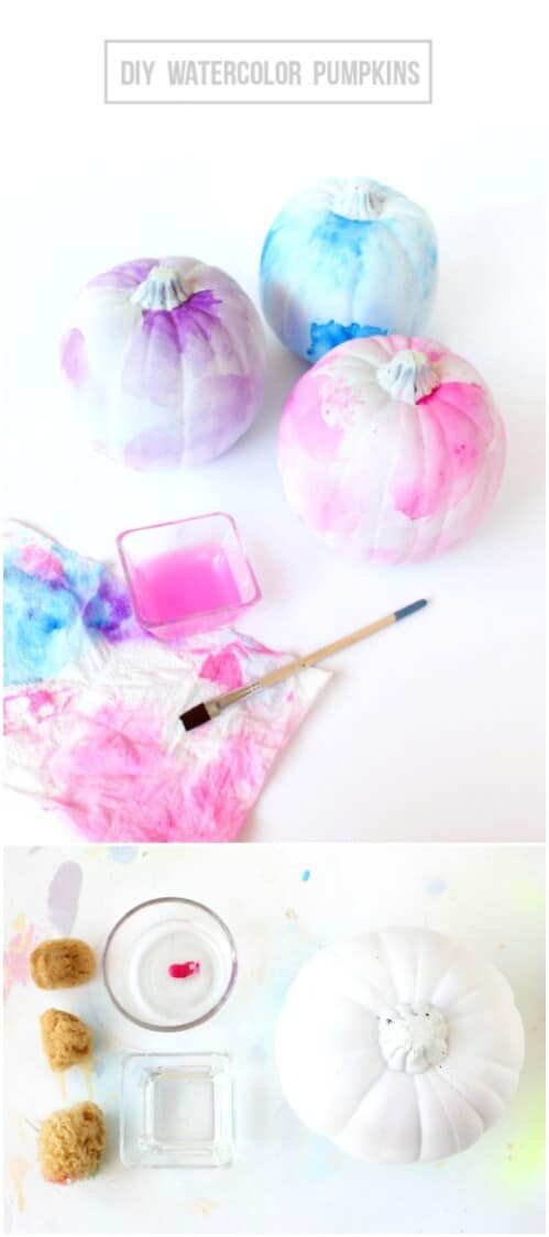 63. Watercolor Pumpkins