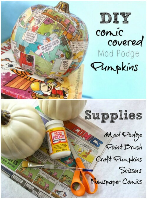 65. Comic-Covered Pumpkins
