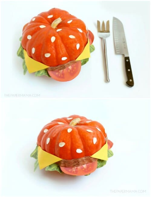 68. Pumpkin Cheeseburger