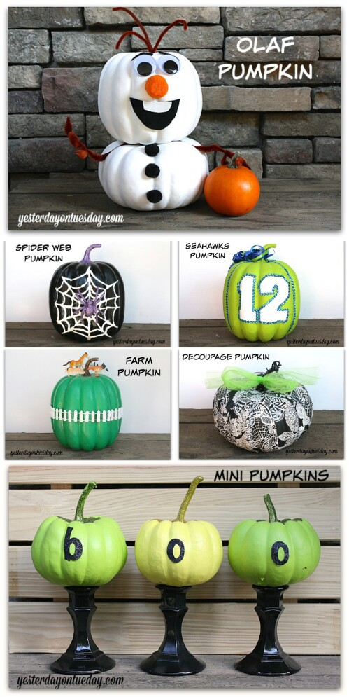 7. Amazing No-Carve Pumpkins