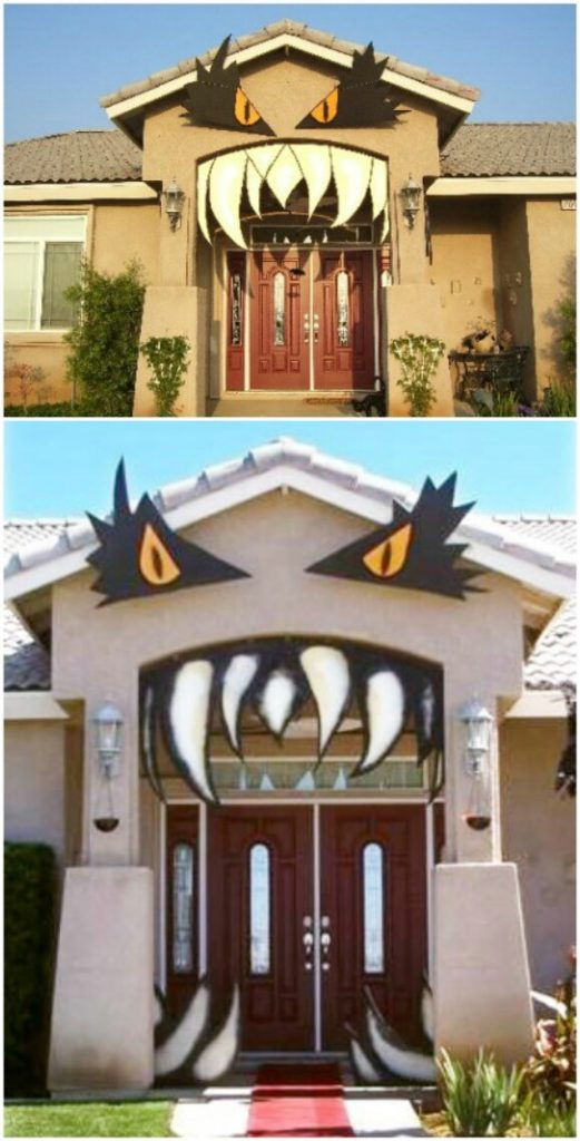 Monster House & 30 Monster Doors and Monster Wreaths to Greet Trick-or-Treaters This ...