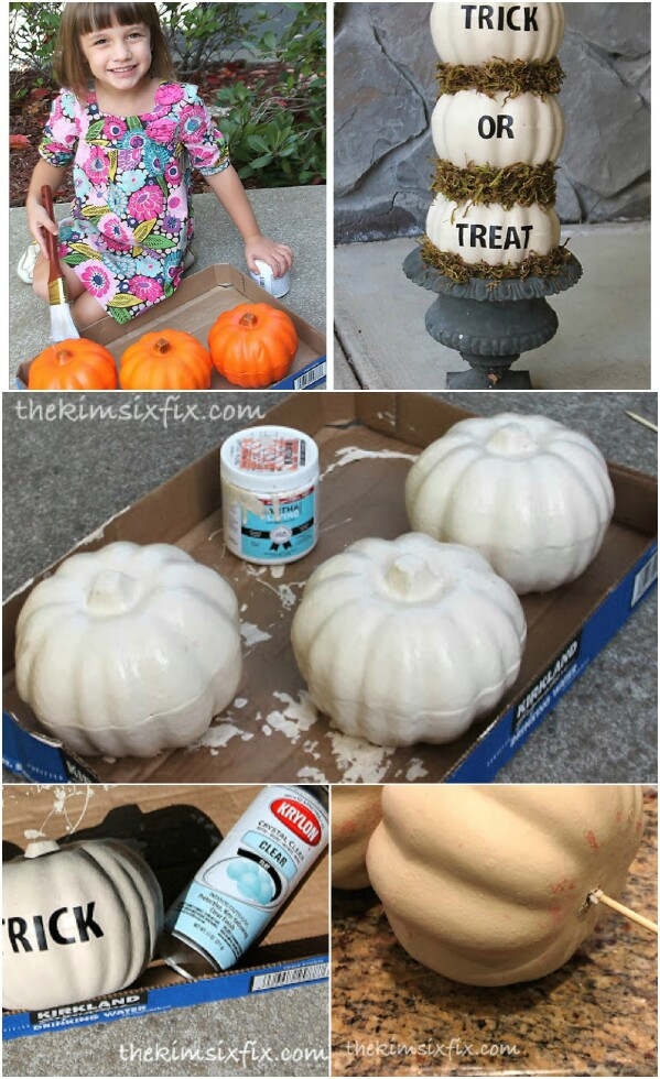 Whimsical Trick or Treat Pumpkins.