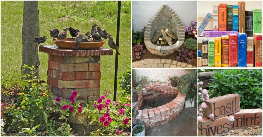20 incredibly creative ways to reuse old bricks diy crafts for Diy brick projects