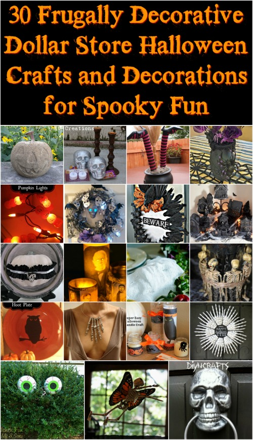 30 frugally decorative dollar store halloween crafts and decorations for spooky fun with tutorial links