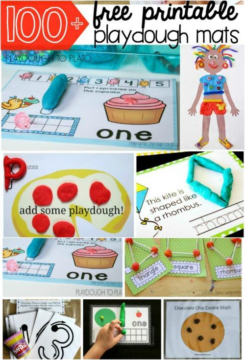 Playdough Mats - Fun Playdough Games, Projects, and Activities