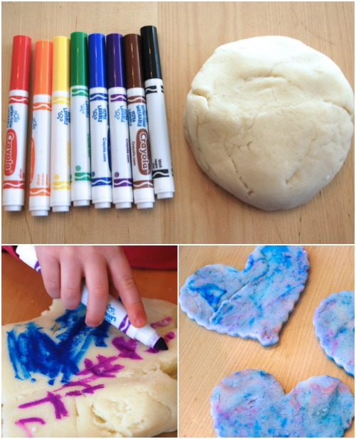Color Playdough with Markers. - Fun Playdough Games, Projects, and Activities