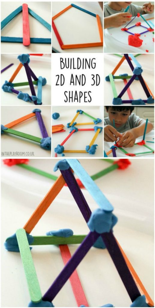 Construct 2D and 3D Shapes - Fun Playdough Games, Projects, and Activities