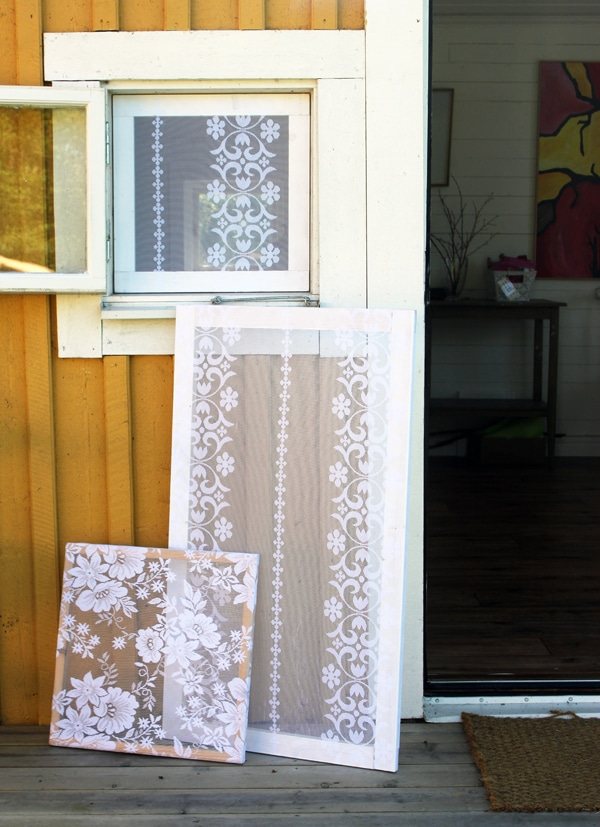 Lace Covered Window Screens