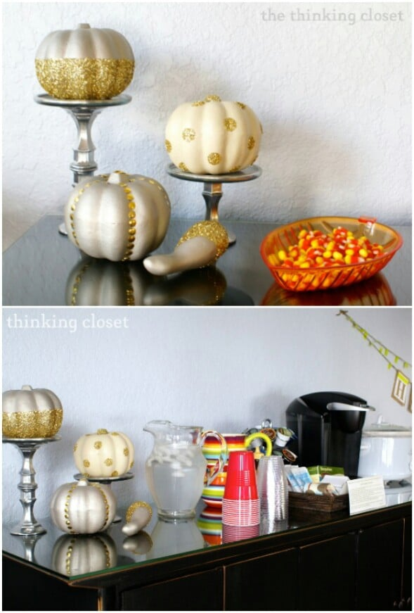 Glitter Glam Pumpkins