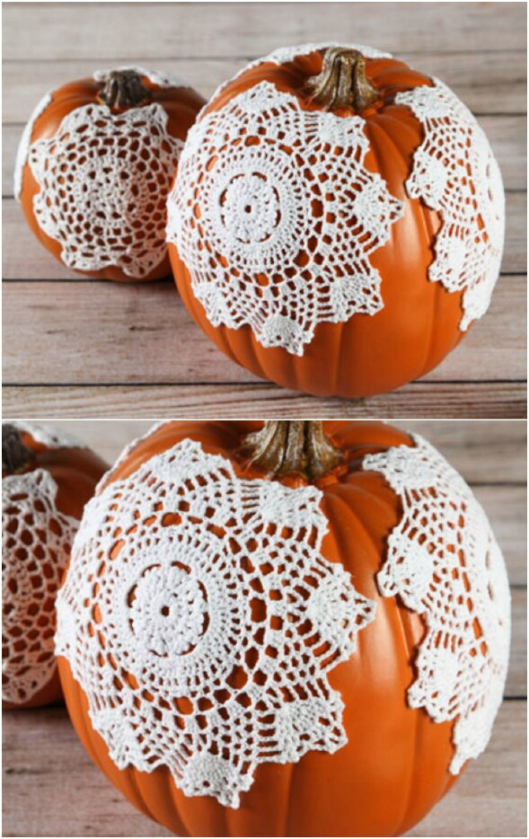Doily Pumpkins